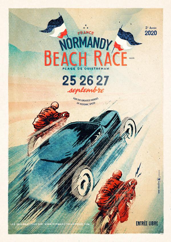 normandy beach race 2020 affiche